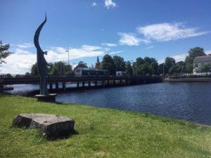 Der Fluss Nissan in Halmstad