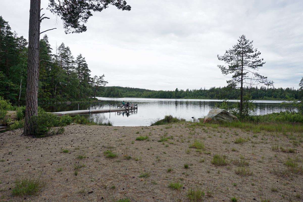 Der See am Campingplatz